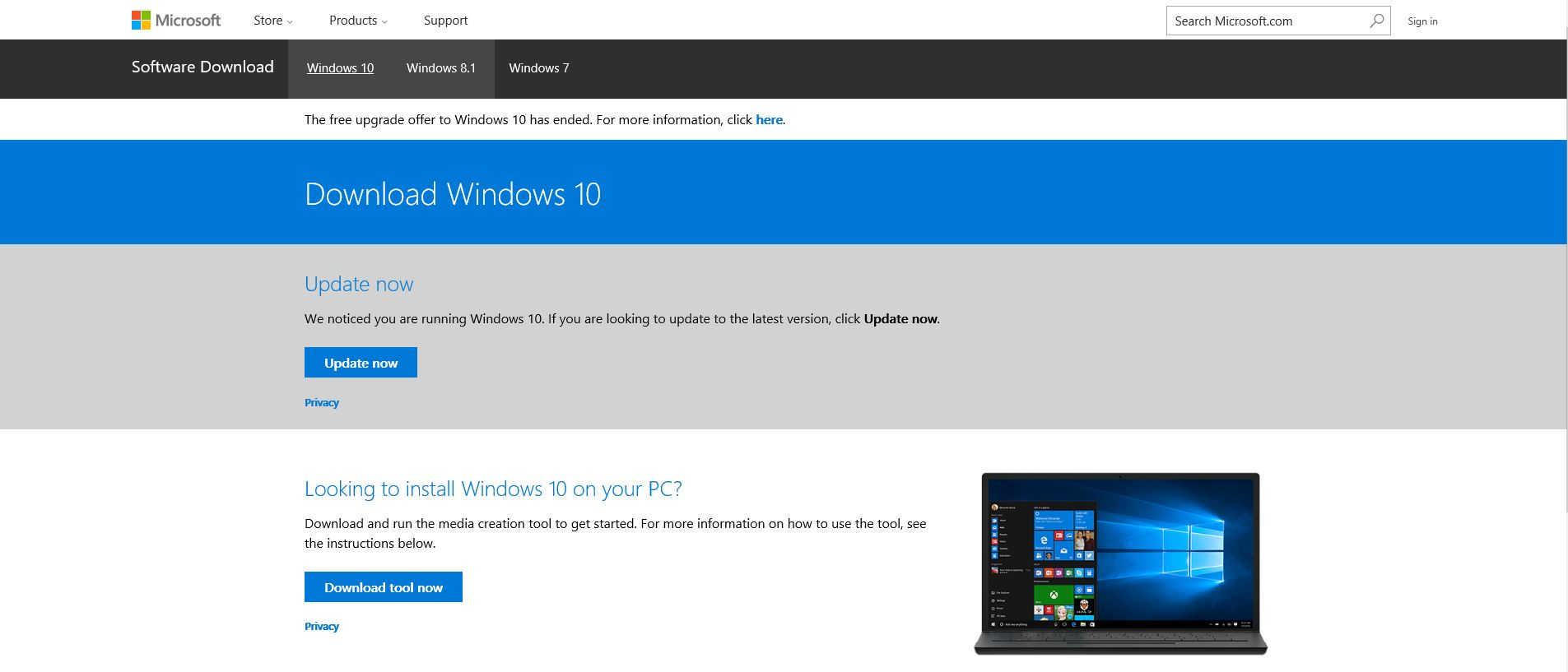 How to perform a Windows (anniversary) update without sufficient