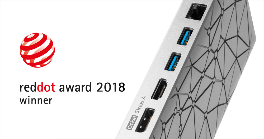 Red Dot Award 2018 Ockel Computers